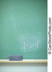 Chalkboard - math - Chalkboard with equation, eraser, and...