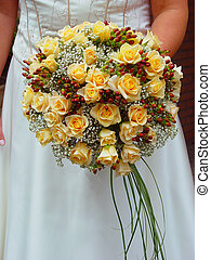 Bridal bouquet - Bride holding her bridal bouquet