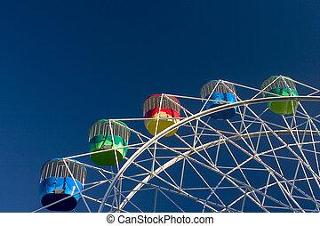 Amusement Park - Colorful wheel at Luna Park, Sydney