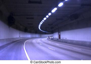 azul, túnel