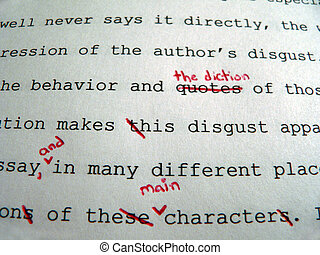 Paper Corrections - Macro of a paper corrected in red pen