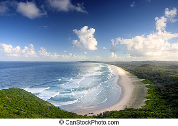 Tweed Head - View from the top of Byron Bay, Australia