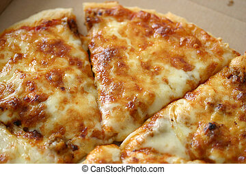 Pizza upclose - Macroshot of tasty pan-pizza.
