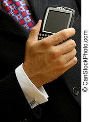 Mobile Computing Businessman - Businessman With A Mobile...