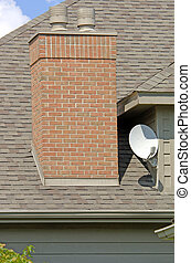 Home Satellite Dish - Luxury home satellite dish (12MP...