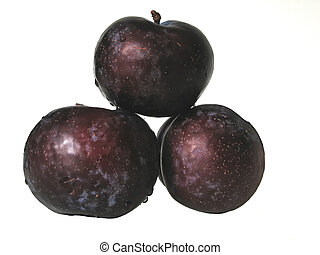 Plums - Three purple plums