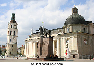 Vilnius - capital of Lithuania, cathedral square.