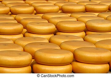 cheese on market - stacked up cheese