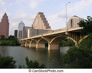 Congress Street Bridge in downtown Austin, Texas