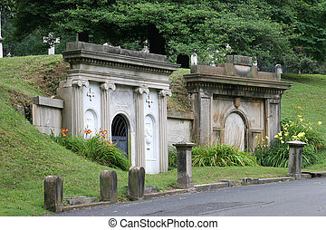 Mausoleums - two beautiful, anceint mausoleums side by side...