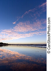 Sunset at Noosa - Mirror beach at sunset