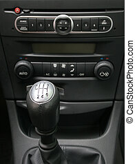 manual gearbox - gearbox lever with six gear scheme, shallow...