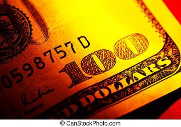 Hundred Dollar Bill - Close Up of a Hundred Dollar Bill
