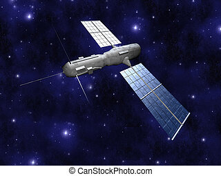 Satellite 3 - A communicationscientific satellite Neutral...
