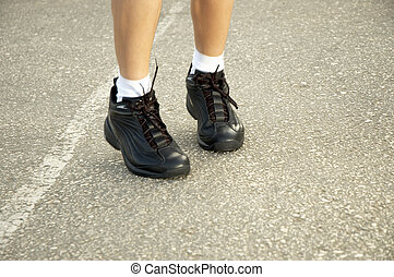 jogging shoes - jumping shoes