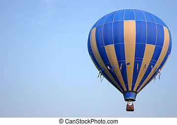 Hot Air Balloon Open For Text - Hot Air Balloon Against a...