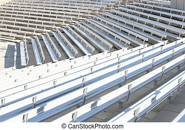 bleachers - empty rows of stands