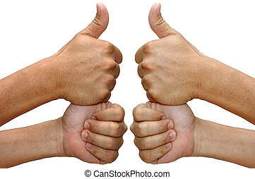 Thumbs Up - isolated fist with thumbs up