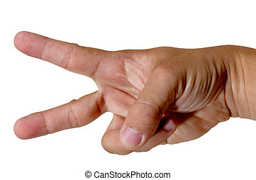 Finger Number 2 - counting finger hand number 2 wave