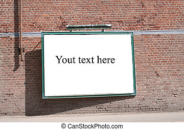 Blank board with space for your text