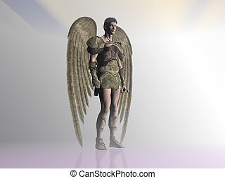 Angel in the mist - An angel in a misty surrounding Bryce 3D...