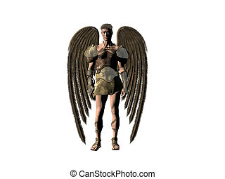 Guardian angel. - A isolated portrait of an angel, bryce 3D...