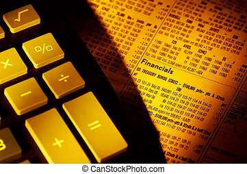 Financials - Calculator and Financial Newspaper