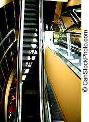 Escalator in a Mall or businesscorporate building