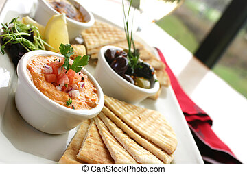 Tapas Platter - Sumptious platter of flat breads served with...
