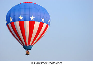 American Flag Balloon - 2005 NJ - Room for text