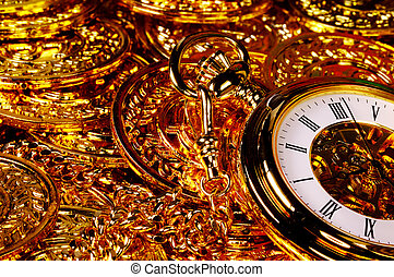 Wealth - Pocketwatch and Gold Coins