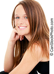 Teen Girl Portrait - Portrait of a Beautiful Fourteen Year...