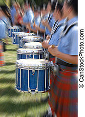 Bagpipe Blur 4987 - line of drums