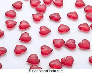 Hearts - Many hearts randomly placed