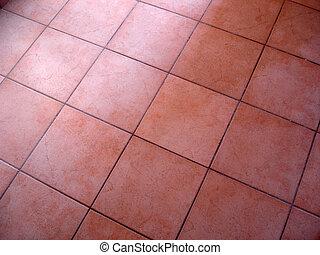 Tiled Floor - Tiled red flooring