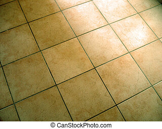 Tiled Floor - Tiled yellow flooring