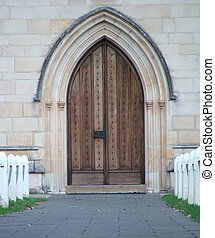 Chapel - Arched chapel door