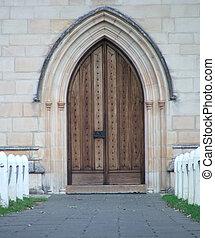 Chapel - Arched chapel door