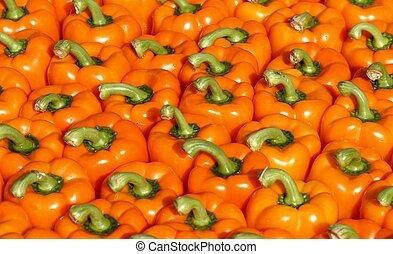 Paprika - yellow paprika on market place