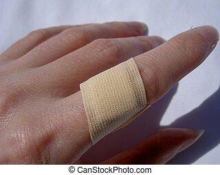 Plaster Finger - finger with plaster