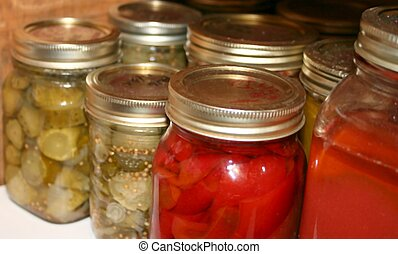 Cannned Goods - canned goods in jars