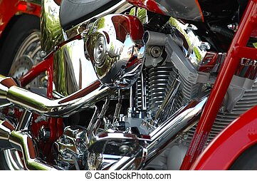 Motorcycle Engine - Photographed motorcycle at local car...