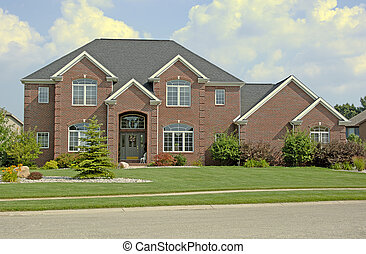 Luxury Home 3 - Luxury brick home. Super detail (12MP...