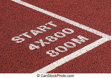track and field abstract - track and field - close up of...
