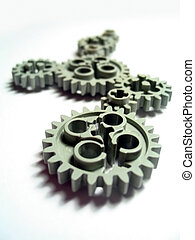 Gears 4 - Shallow depth of field over toy plastic gears