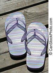verão, sandálias
