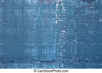 Blue concrete - Old decayed blue concrete wall