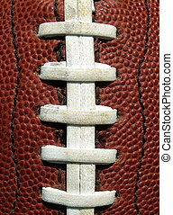 football laces - white laces on an American football