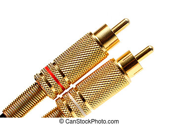 stereo audio jacks gold plated - two stereo gold plated RCA...