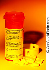 Medication - Photo of a Medication Bottle and Pills with...